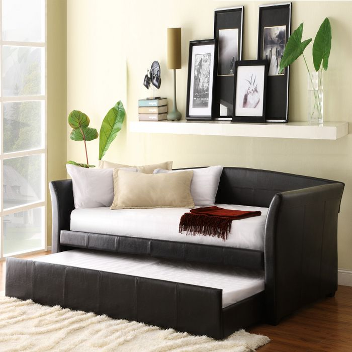 Black trundle bed