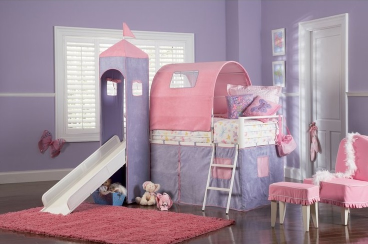 powell-princess-castle-bunk-bed-slide