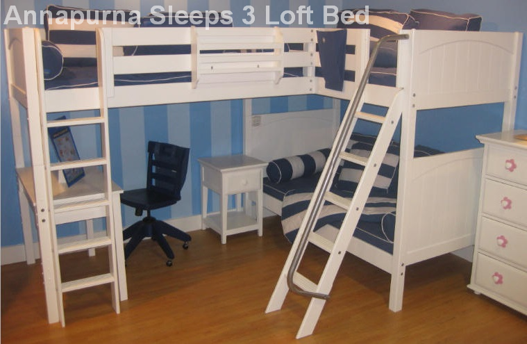 Best Triple Bunk Beds - Annapurna Sleeps 3 Loft Bed