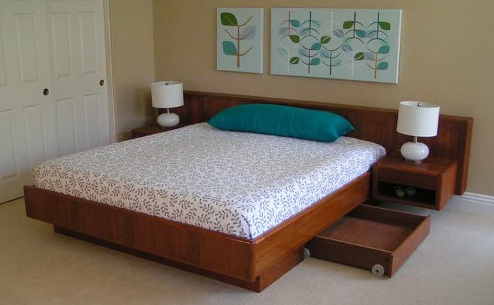 Completed bed frame
